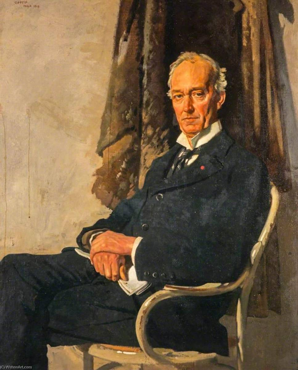 George Allardice (1865 1934), Newspaper Proprietor and Diarist, 1919 by William Newenham Montague Orpen (1878-1931, Ireland) | Painting Copy | WahooArt.com