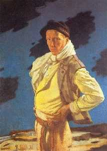 William Newenham Montague Orpen - The Man from Aran