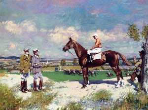 Buy Framed Print Mr. Stephen Sandford's 'Sergeant Murphy' with Captain 'Tubby' Bennett' by William Newenham Montague Orpen (1878-1931, Ireland) | WahooArt.com | Order Framed Giclee Mr. Stephen Sandford's 'Sergeant Murphy' with Captain 'Tubby' Bennett' by William Newenham Montague Orpen (1878-1931, Ireland) | WahooArt.com