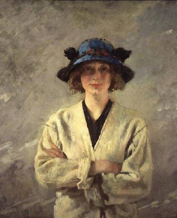 Girl in a White Dress by William Newenham Montague Orpen (1878-1931, Ireland) | Famous Paintings Reproductions | WahooArt.com