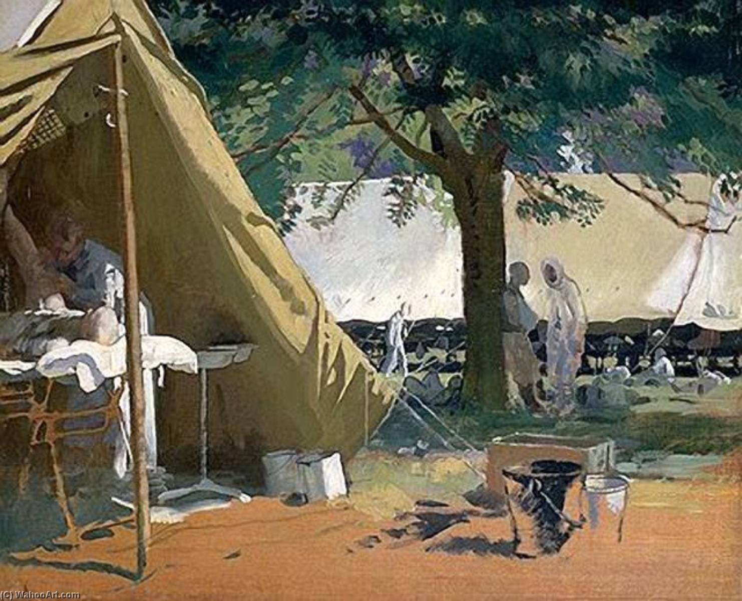German Sick, Captured at Messines, in a Canadian Hospital, Oil On Panel by William Newenham Montague Orpen (1878-1931, Ireland)