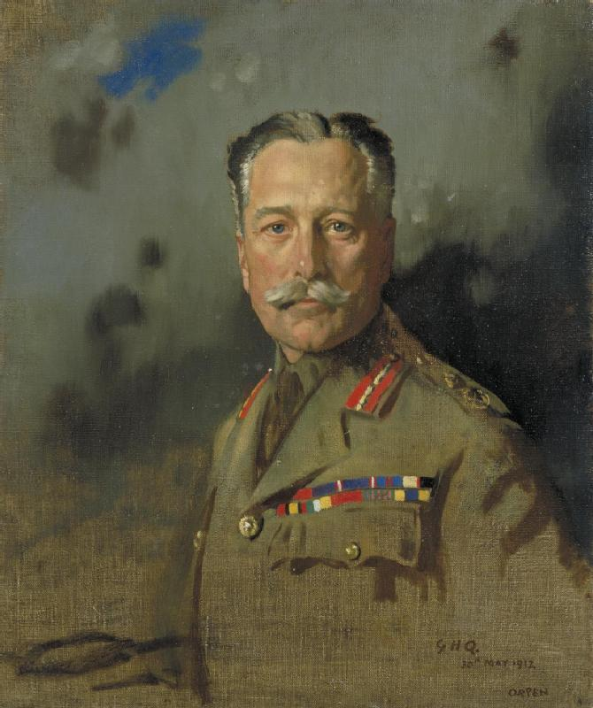 Field Marshal Sir Douglas Haig, Oil On Canvas by William Newenham Montague Orpen (1878-1931, Ireland)