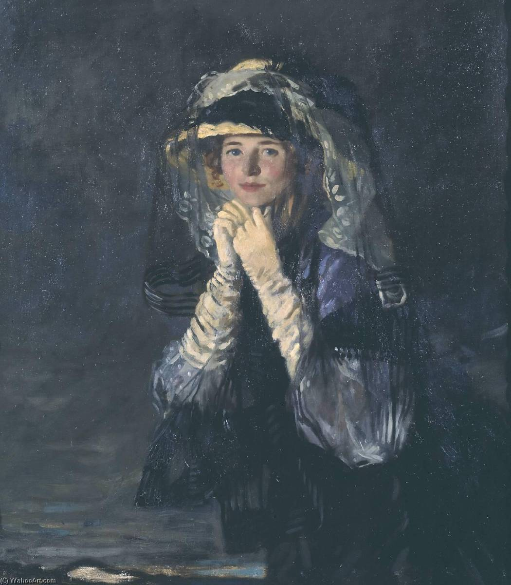 Lady Orpen, 1907 by William Newenham Montague Orpen (1878-1931, Ireland) | Museum Quality Reproductions | WahooArt.com