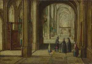Hendrick Van Steenwijck The Younger - The Interior of a Gothic Church looking East