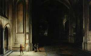 Hendrick Van Steenwijck The Younger - Interior of a Church with Figures