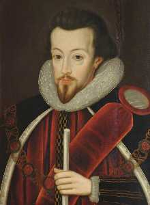 Buy Museum Art Reproductions | Robert Cecil (1563–1612), Earl of Salisbury, Alumnus of St John`s College, Principal Secretary to Elizabeth I and James I, Knight of the Garter by John De Critz The Elder | WahooArt.com