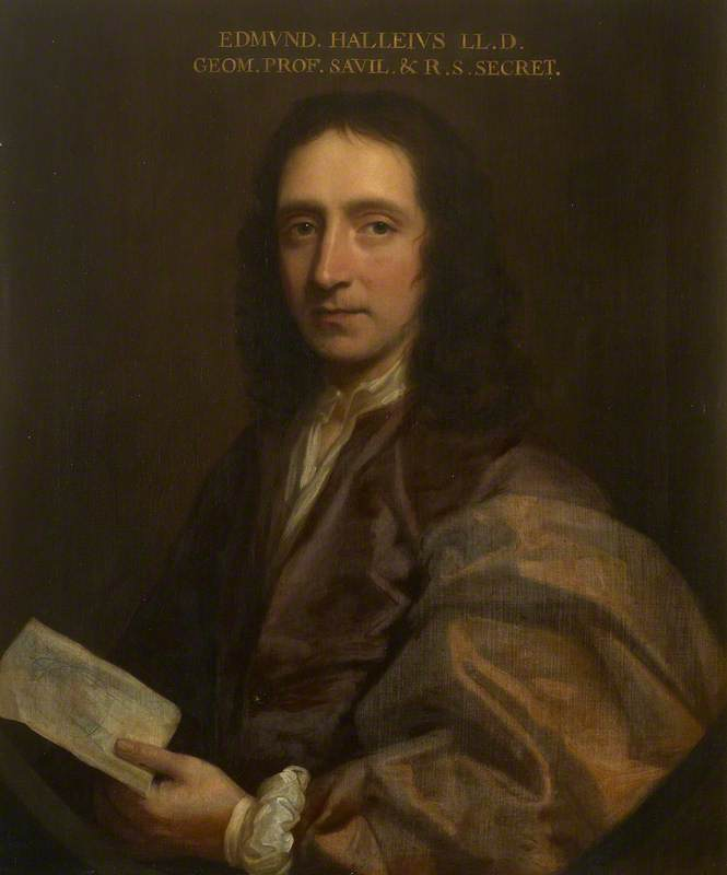 Edmond Halley (1656–1742), Oil On Canvas by Thomas Murray