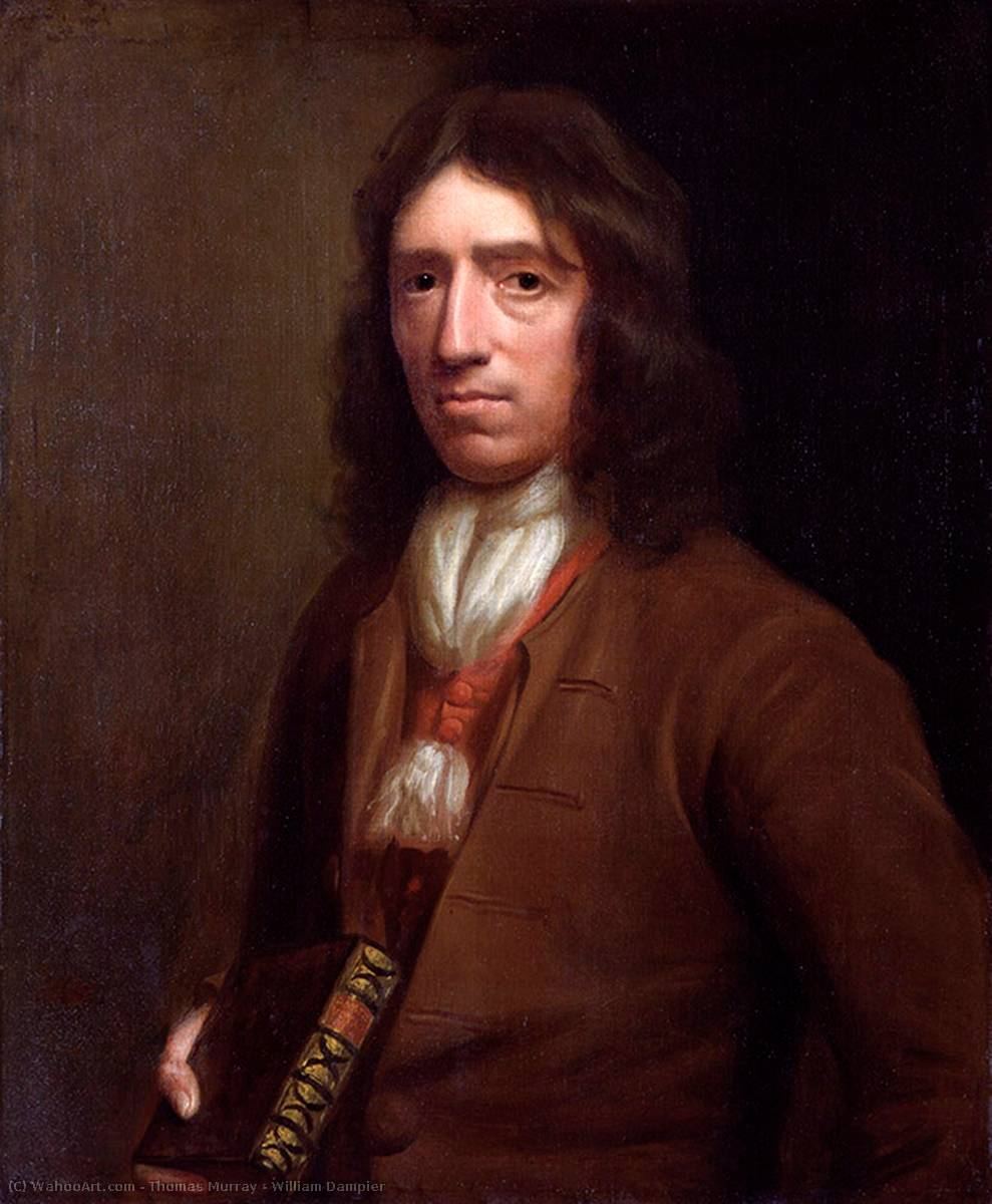William Dampier, 1698 by Thomas Murray | Museum Quality Copies Thomas Murray | WahooArt.com