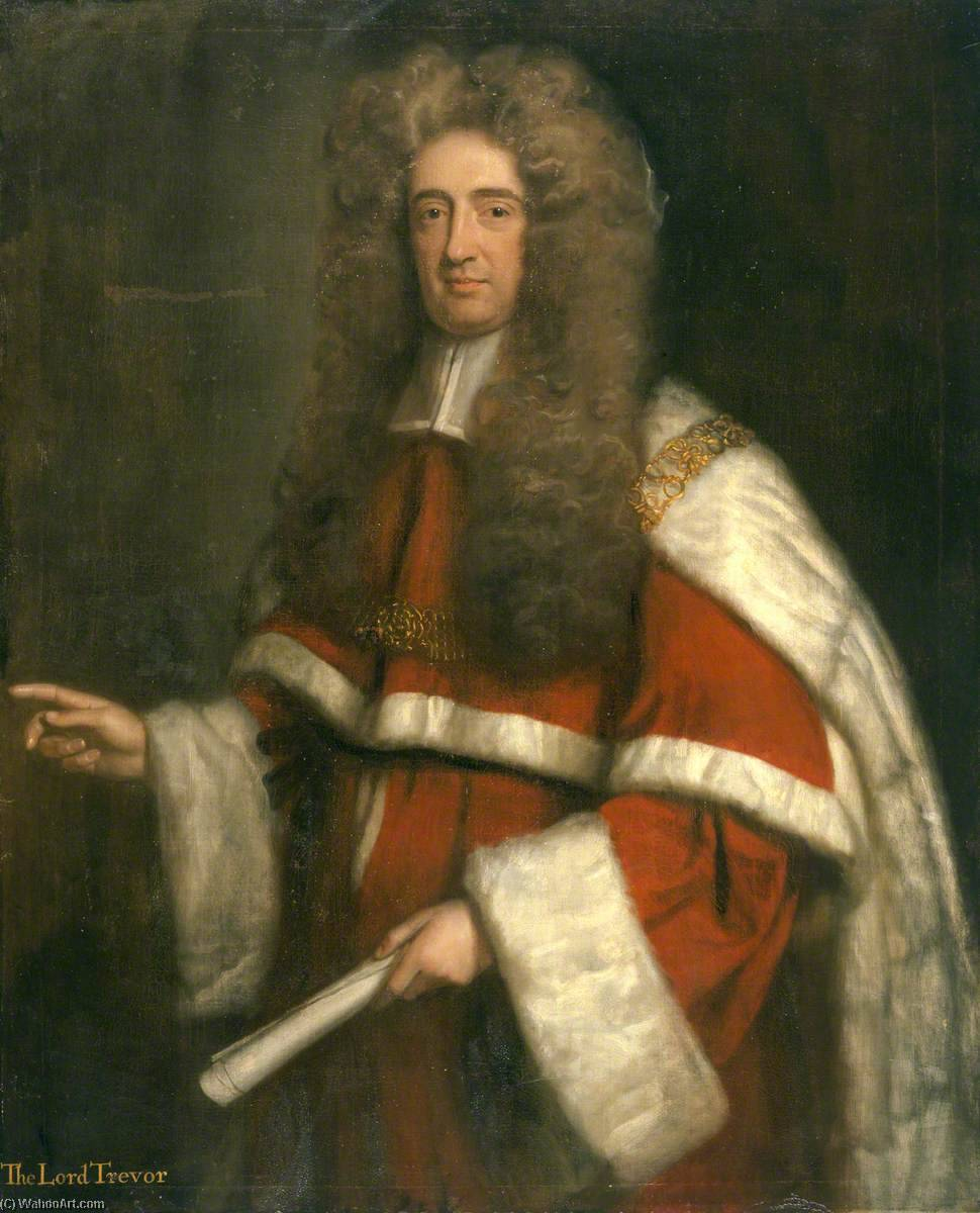 Thomas Tevor (1658–1750), 1st Lord Trevor by Thomas Murray | Museum Quality Copies Thomas Murray | WahooArt.com
