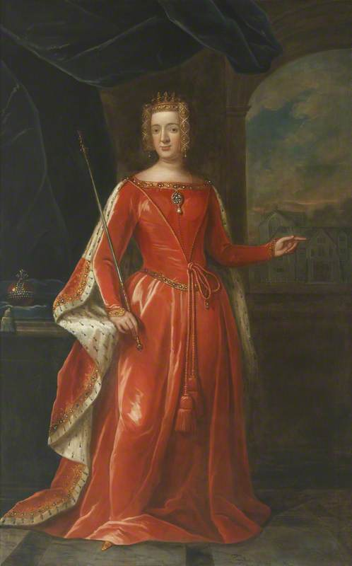 Philippa (1314 –1369), Queen Consort of Edward III, Oil On Canvas by Thomas Murray