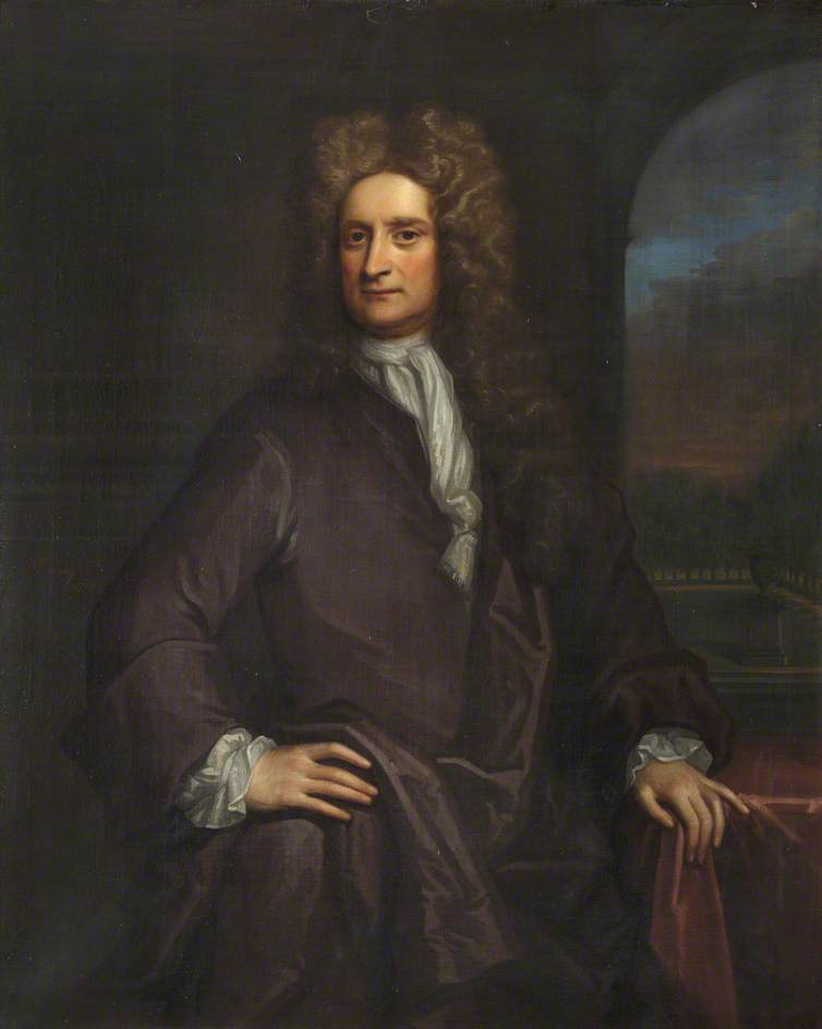 Isaac Newton (1642–1725), Fellow, Natural Philosopher and Mathematician, Oil On Canvas by Thomas Murray