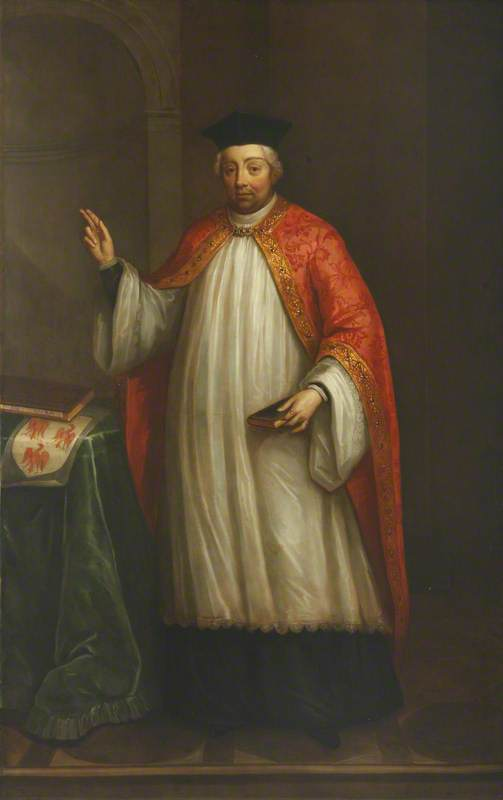 Robert Eglesfield (c.1295–1349), Founder of the College, 1723 by Thomas Murray | Oil Painting | WahooArt.com