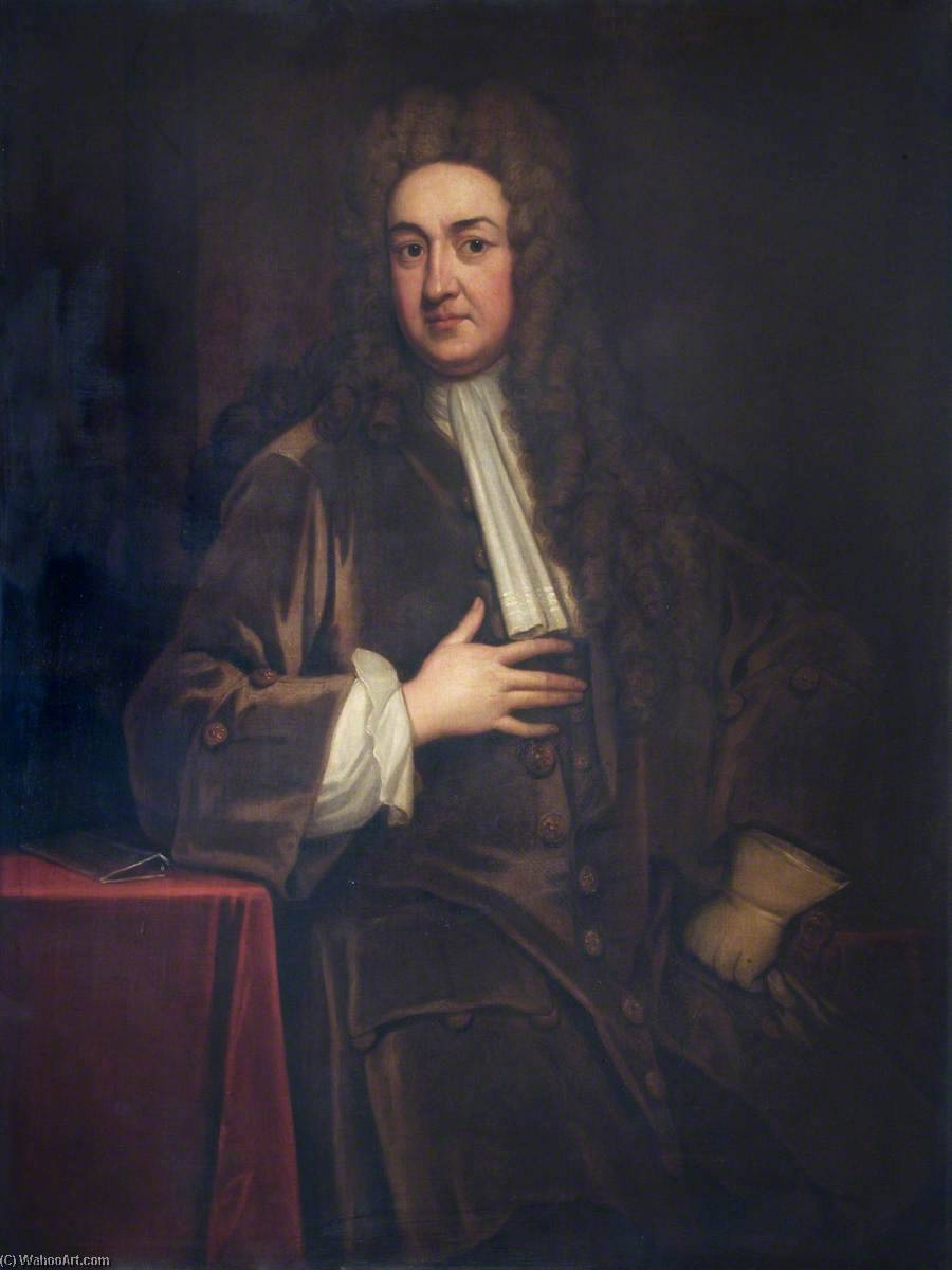 John Radcliffe (1652–1714), Physician (after Godfrey Kneller), Oil On Canvas by Thomas Murray