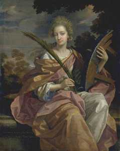 Benedetto Gennari The Younger - Elizabeth Panton, Later Lady Arundell of Wardour, as Saint Catherine