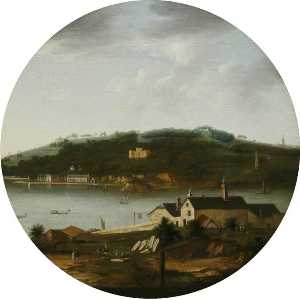 William Tomkins - A View of Mount Edgcumbe from Cremyll