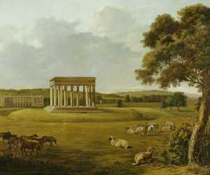 William Tomkins - Audley End and the Temple of Concord