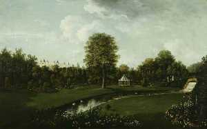 William Tomkins - Audley End, View from the Tea House Bridge