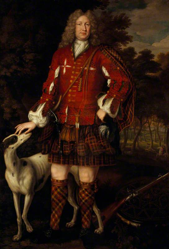 Kenneth Sutherland (d.1734), 3rd Lord Duffus, Jacobite, 1712 by Richard Waitt | Famous Paintings Reproductions | WahooArt.com