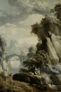 James Norie - Landscape with a Bridge