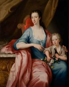 William Mosman - Ann (1713–1791), Countess of Aberdeen, with Her Eldest Son, William