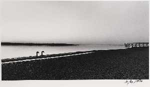 Nathan Jay Jaffee - West Neck Beach (Two Figures)