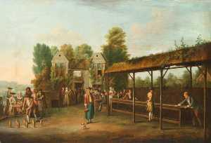 Balthasar Nebot - Gentlemen Playing Skittles