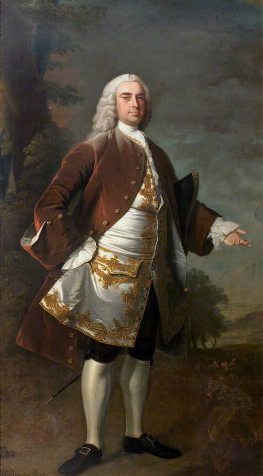 Sir Wolstan Dixie (1700–1767), 4th Bt, Market Bosworth, 1741 by Henry Pickering | WahooArt.com