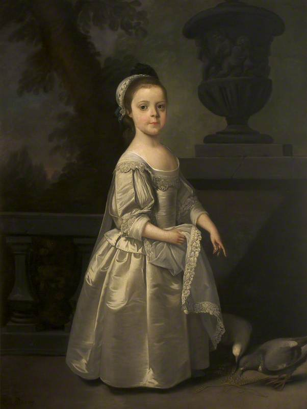 Order Oil Painting : Reputedly Hester Egerton (1708–1780), Later Mrs William Tatton (really Frances Maria Fountayne, c.1751–1777, later Mrs William Tatton Egerton , as a Child), 1750 by Henry Pickering | WahooArt.com