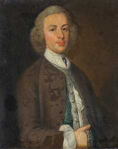 Order Art Reproductions | Sir Jacob Downing (d.1764), 4th Bt by Henry Pickering | WahooArt.com