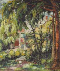 Aksel Waldemar Johannessen - The Artist's Summer House in Asker
