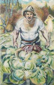 Aksel Waldemar Johannessen - Peasant with Cabbages
