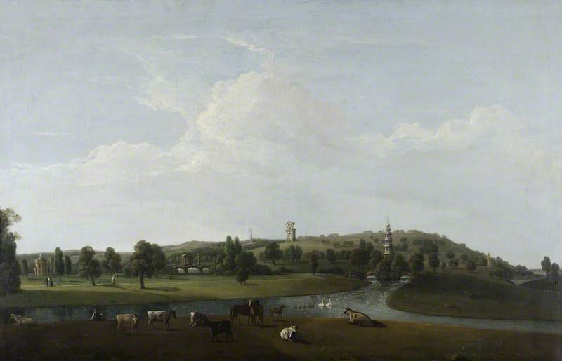 An Extensive View of Shugborough Park and Its Monuments, Oil On Canvas by Nicholas Thomas Dall