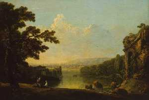 Nicholas Thomas Dall - River Scene with Ruins