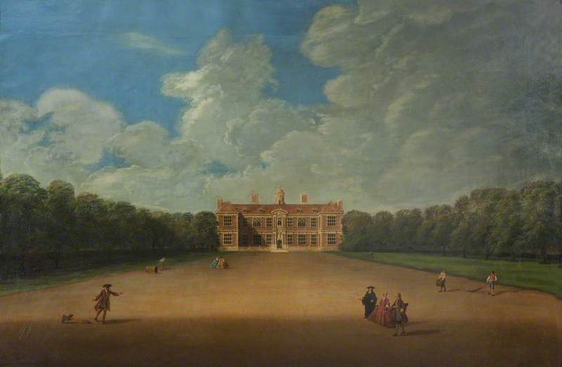 Sudbury Hall from the North, Oil On Canvas by Nicholas Thomas Dall
