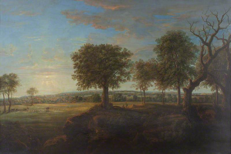 Sudbury Park from the South, Evening by Nicholas Thomas Dall | Oil Painting | WahooArt.com