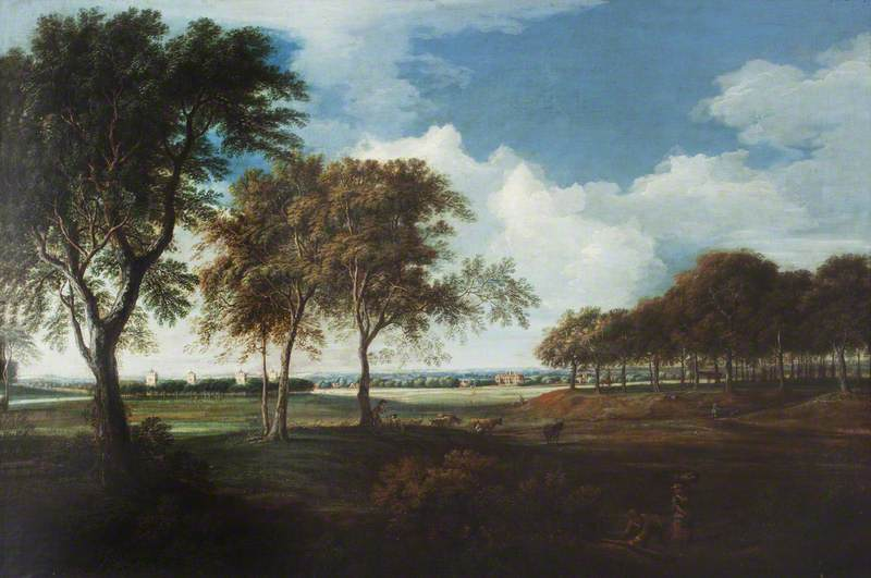 Sudbury Park from the North, Morning, Oil On Canvas by Nicholas Thomas Dall