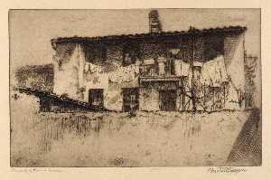 Bertha Evelyn Jaques - Back of a Roman House