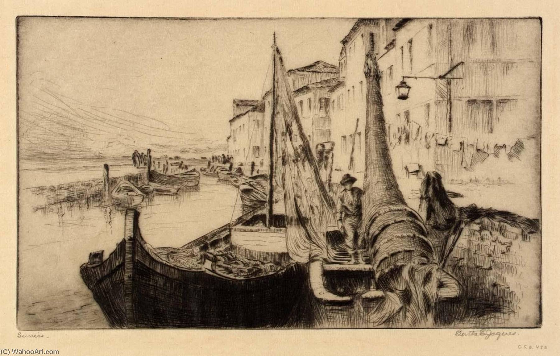 Seiners, Chioggia by Bertha Evelyn Jaques | Museum Quality Copies Bertha Evelyn Jaques | WahooArt.com