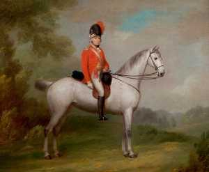 John Boultbee - Captain Ichabod Wright of Mapperley (1767–1862), Formed the First Nottingham Troop in 1794