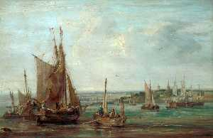 Samuel Williamson - Fishing Boats on the Mersey