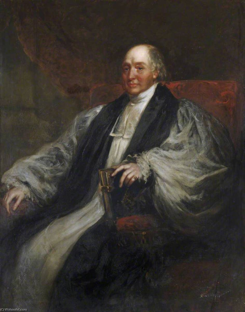 James Henry Monk (1784–1856), Fellow, Classical Scholar, Tutor and Regius Professor of Greek, Bishop of Gloucester and Bristol (1830–1856), 1850 by Richard Buckner (1812-1883) | Museum Quality Reproductions | WahooArt.com