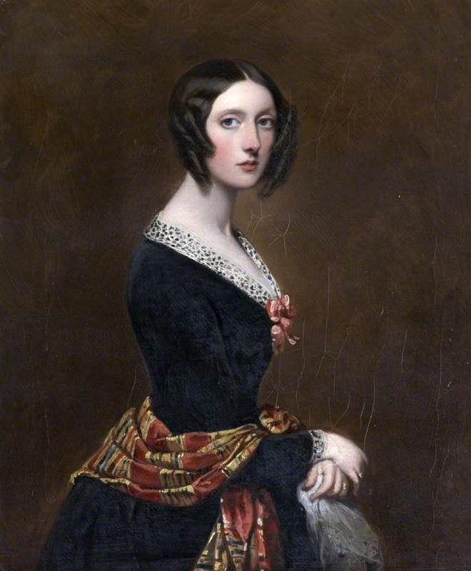 Order Paintings Reproductions | Harriet Parker (1809–1897), Countess of Morley, 1843 by Richard Buckner (1812-1883) | WahooArt.com