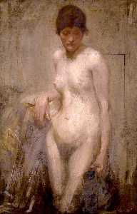 Samuel John Peploe - Female Nude with Pitcher