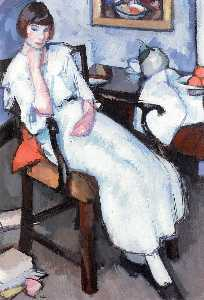 Samuel John Peploe - Girl in White