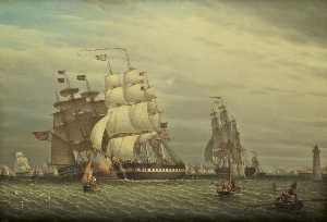 Robert Salmon - American Ships in the Mersey Off Liverpool