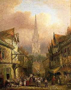 David Hodgson - Norwich Cathedral from Cowgate, Norfolk