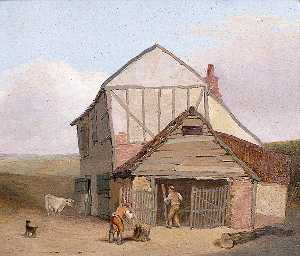 Henry Ninham - Near Mousehold, Norwich (Sheds behind Cavalry Barracks)