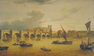 John Dean Paul - View of Westminster Bridge, London