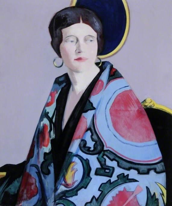 The Embroidered Cloak, 1929 by Francis Campbell Boileau Cadell (1883-1937) | Oil Painting | WahooArt.com