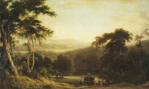 Joseph Rhodes - Landscape near Richmond, Yorkshire